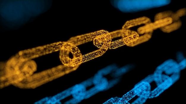 Concept of blockchain transaction security system Premium Photo