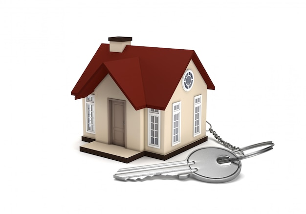 The concept of buying and selling a house. Premium Photo