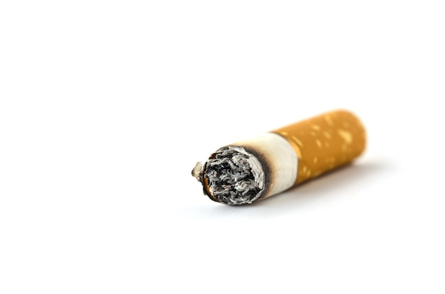 Concept cigarette stop smoke on white background isolated Premium Photo
