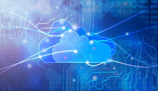 Concept of cloud computing. Premium Photo