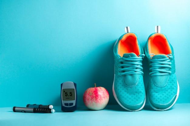 Concept of a diabetics patient lifestyle. Premium Photo