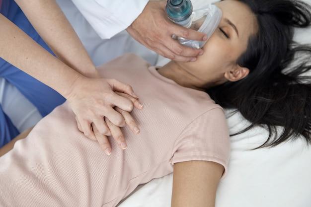 Concept of emergency medical team Premium Photo