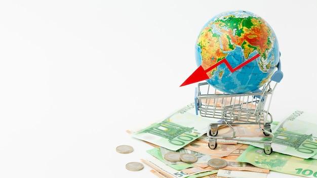 Concetto di depressione economica globale Foto Gratuite