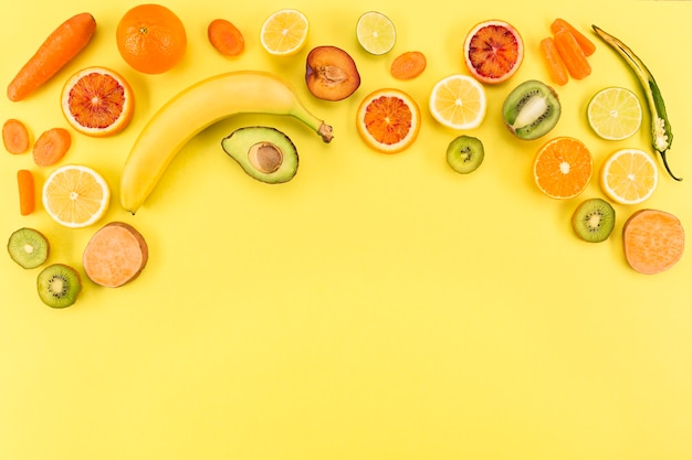 Concept of healthy eating copy space Free Photo