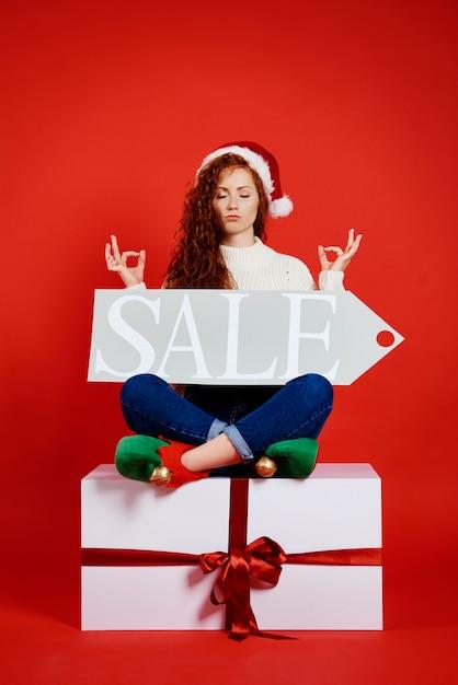 クリスマスと冬のセールのコンセプト 無料写真
