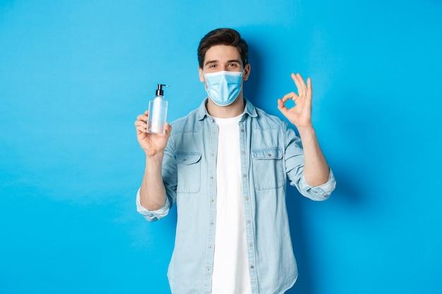 Концепция covid-19, пандемии и социального дистанцирования. Premium Фотографии
