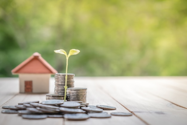 Background Property Developments : Concept of saving money for a house business finance and