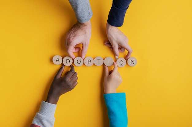 Conceptual image of adoption Premium Photo