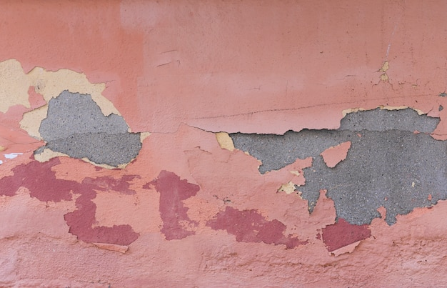Concrete wall with paint and peeling Free Photo
