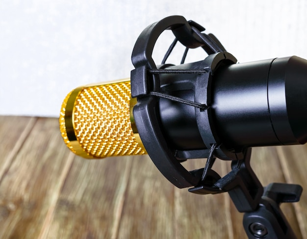 Condenser gold microphone with plastic