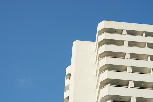 Condo skyscape on blue sky Premium Photo
