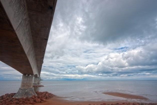 Confederation bridge   hdr Free Photo