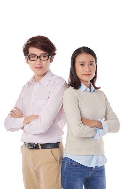 Confident business team Free Photo