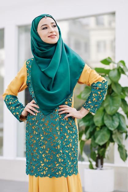 Confident smiling muslim woman Premium Photo
