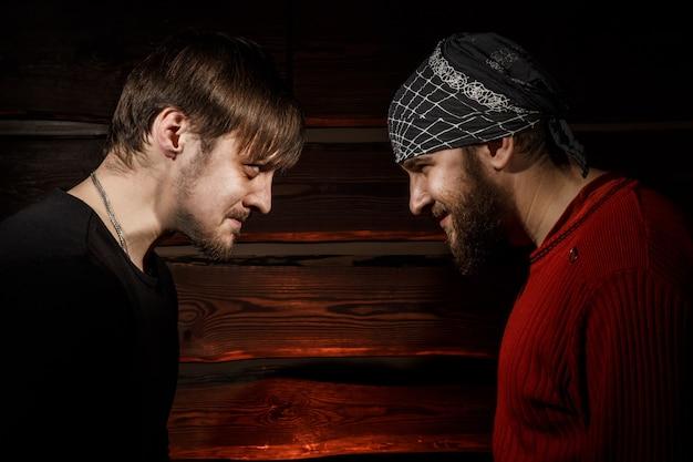Confrontation. conceptual picture. Premium Photo