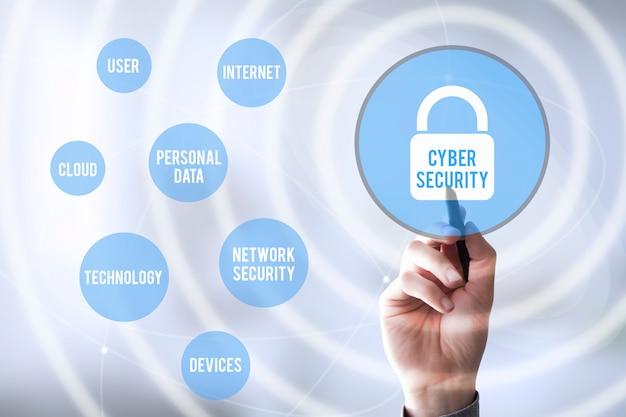 Соединения pen touch cyber security Premium Фотографии