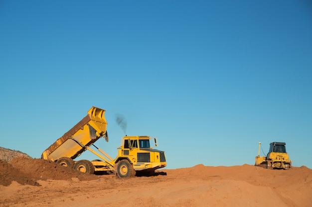 Construction equipment at work Premium Photo