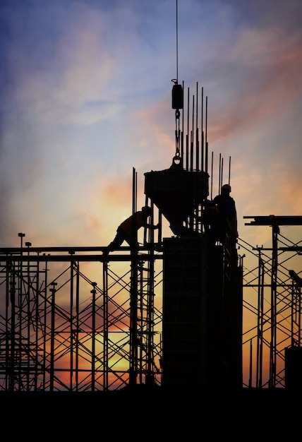 Construction silhouette Free Photo