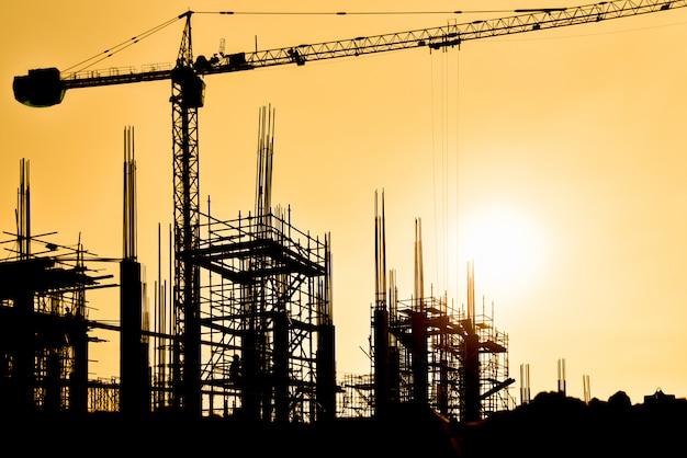 Construction site background Premium Photo