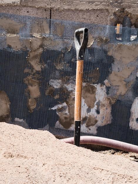 Строительная площадка с лопатой Бесплатные Фотографии