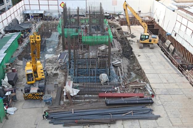 Construction site Premium Photo