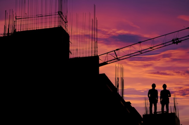 Construction worker working on a construction site,for construction teams to work in heavy industry Premium Photo