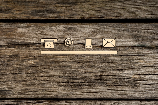 Contact and communication icons Premium Photo