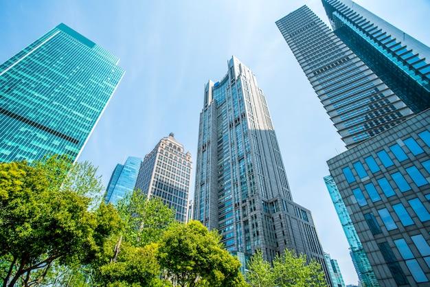 Contemporary architectural office building, urban landscape Premium Photo