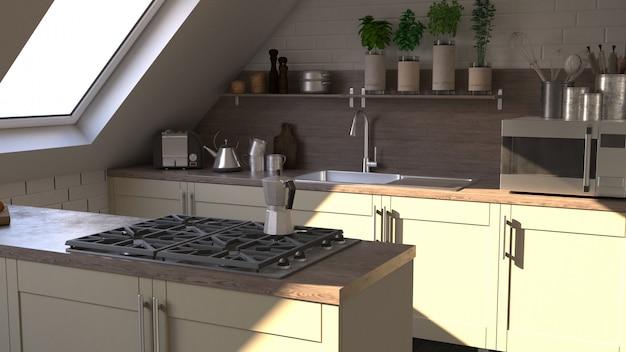 Contemporary kitchen Free Photo