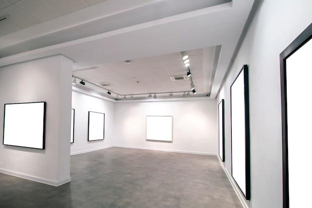 Contemporary museum gallery interior Premium Photo