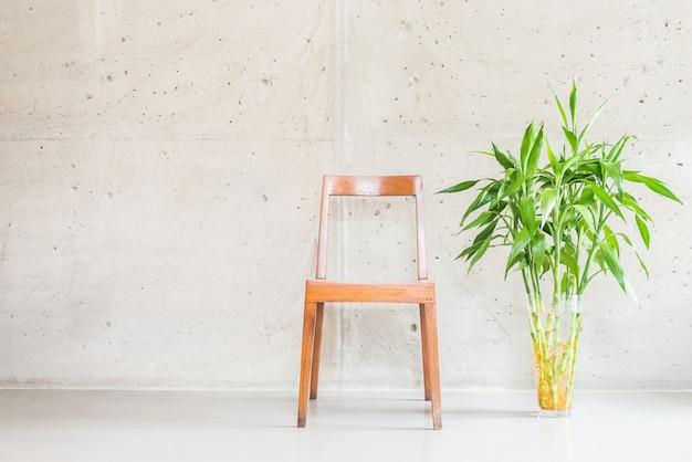 Contemporary plant white vase decoration Free Photo