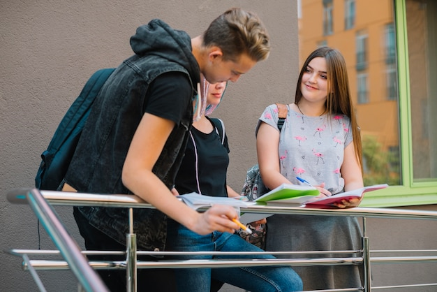 Content People Doing Homework Together Photo Free Download