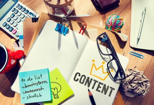 Content written in a notebook Premium Photo