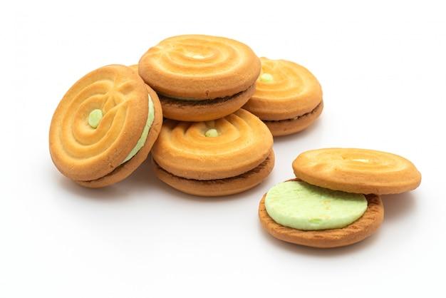 Печенье с пандановым кремом Premium Фотографии
