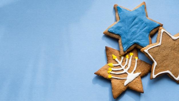 Печенье с символами традиционной еврейской концепции хануки Бесплатные Фотографии