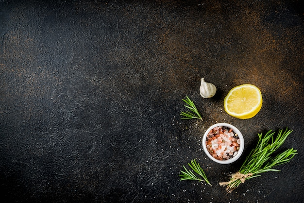 Cooking food ingredients background Premium Photo