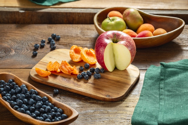 Cooking healthy diet eating healthy food concept Premium Photo