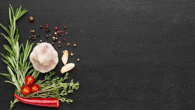 Приготовление ингредиентов с копией пространства Бесплатные Фотографии