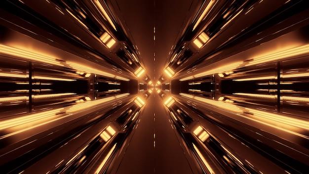 輝くネオンライトとクールな未来的な抽象的な背景 無料写真