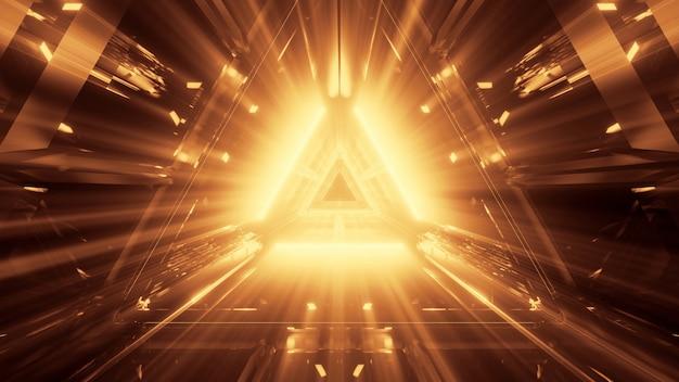 빛나는 네온 빛으로 멋진 미래 추상 배경 무료 사진