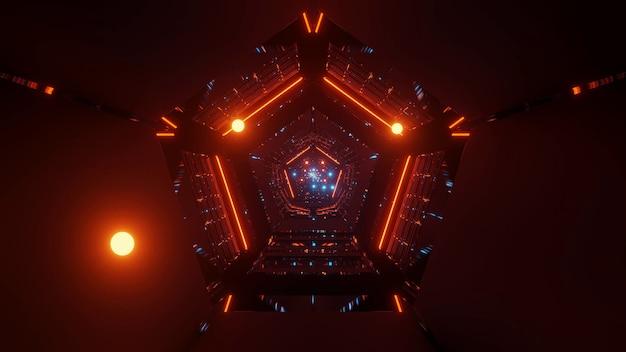 Крутые футуристические научно-фантастические техно-огни треугольной формы Бесплатные Фотографии