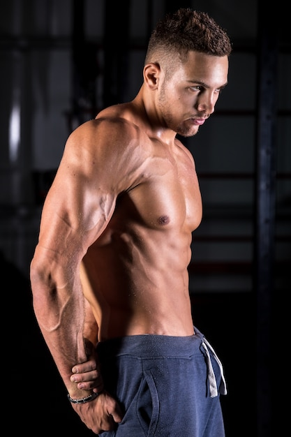Cool young bodybuilder posing 1163 3561