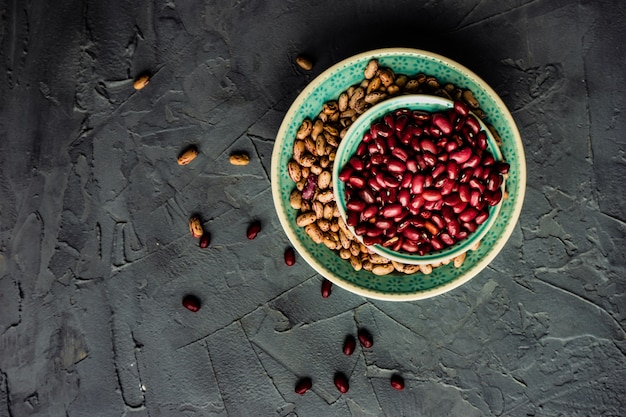 Cooning concept with beans Premium Photo