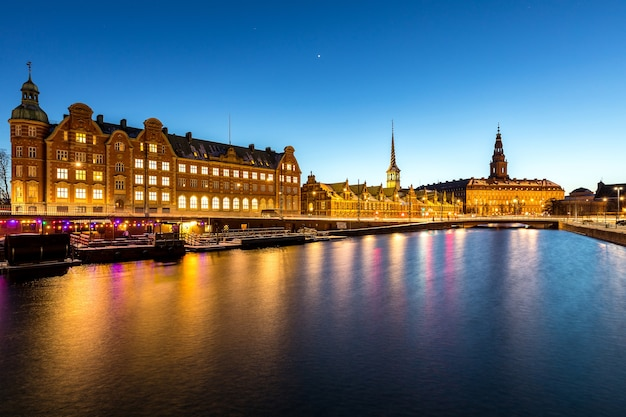 Copenhagen denmark night Premium Photo