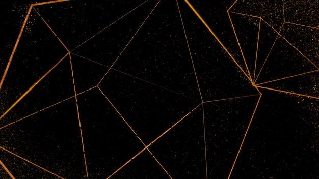 Icosaedro in rame su fondo nero Foto Gratuite