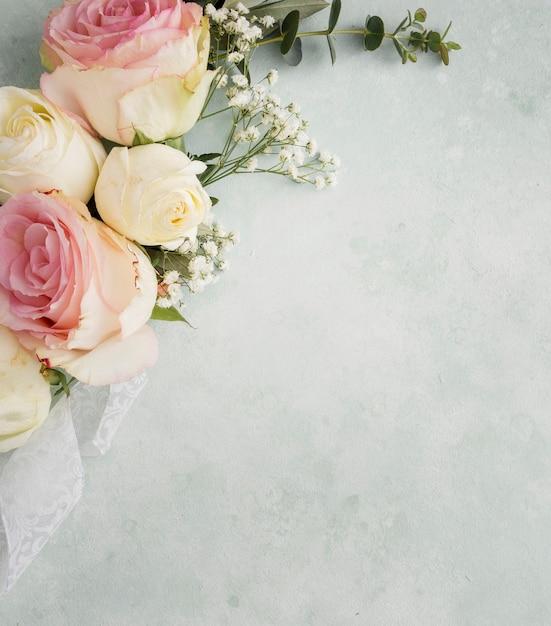Copy-space элегантный цветочный орнамент Premium Фотографии
