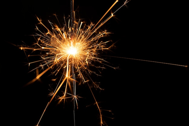 Copy-space fireworks at new year party Free Photo