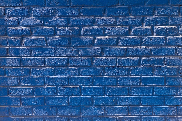 Copy space front view blue brick wall Free Photo