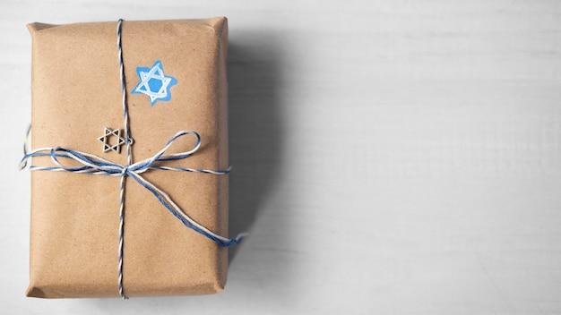 Копирование космического подарка традиционной хануки еврейской концепции Бесплатные Фотографии