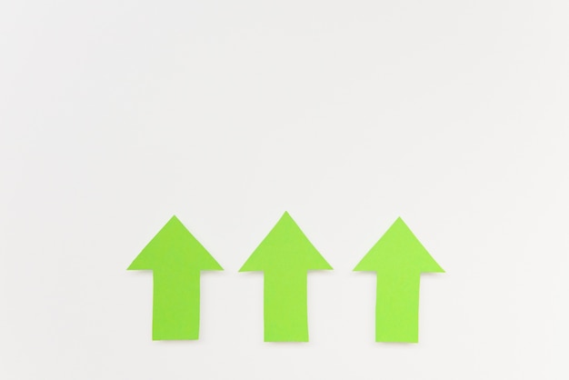Copy-space green arrows Free Photo
